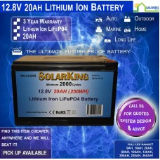 12V 20ah Lithium Ion LiFePo4 Deep Cycle Rechargeable Battery (Pick Up)