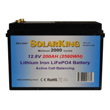 12V 200ah Lithium-Ion LiFePo4 DeepCycle - Active Cell Balancing (Free Freight)