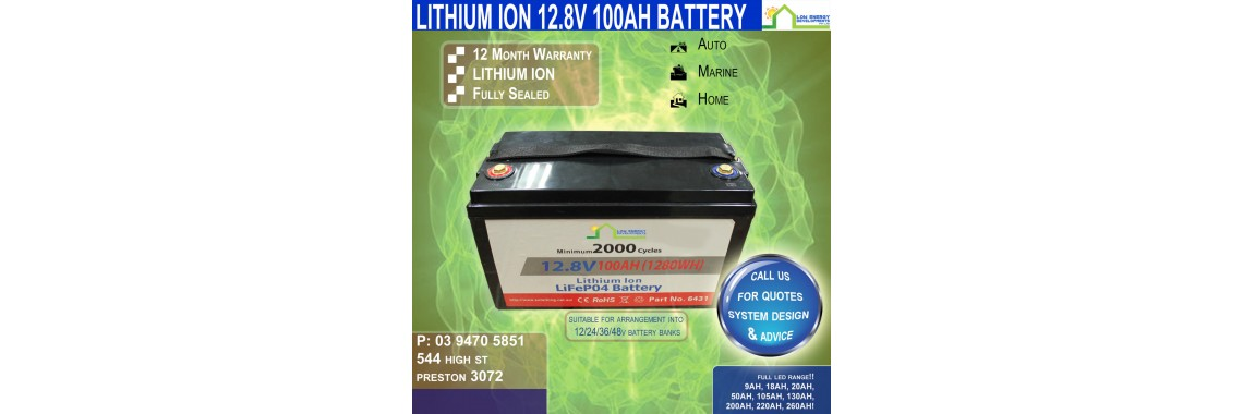 12V 100ah Lithium Ion LiFePo4 Battery