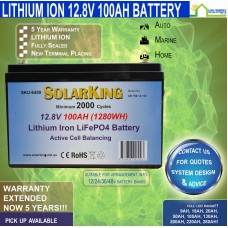 12V 100ah Lithium Battery - Active Cell Balancing -  *FREE FREIGHT