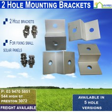 2 Hole Aluminum Solar Panel Mount Bracket (Set of 4)