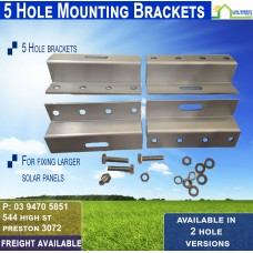 5 Hole Aluminum Solar Panel Mount Bracket (Set of 4)