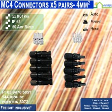 MC4 Connectors - 5x PAIRs