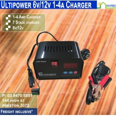 Ultipower 1-4a 12v/6v Battery Charger