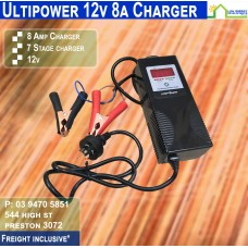 Ultipower 8a 12v/6v Battery Charger