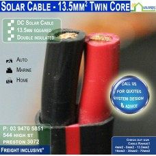 13.5mm2 Twin DC Solar Cable per metre