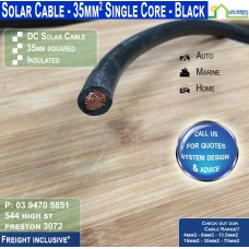 35mm2 Black DC Solar Cable per metre