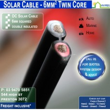 6mm2 Twin DC Solar Cable per metre