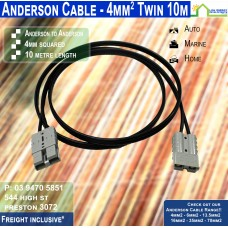 10m Anderson 4mm2 Twin DC Solar Cable