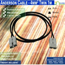 1m Anderson 4mm2 Twin DC Solar Cable per metre