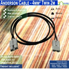 2m Anderson 4mm2 Twin DC Solar Cable per metre