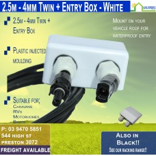 2.5M MC4 4mm Twin White Entry Box