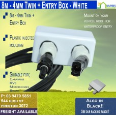 8M MC4 4mm Twin White Entry Box