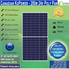 Canadian Solar KuPower 280 Watt 24V Solar Panel 60 Cell Polycrystalline