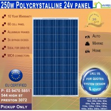 250 Watt 24V Solar Panel Polycrystalline Pickup