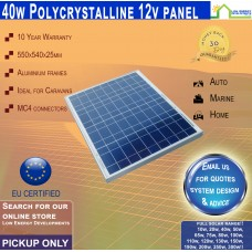 40 Watt 12v Solar Panel Poly - Pickup