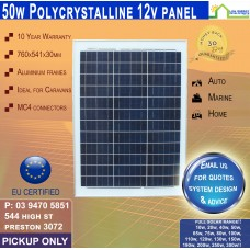 50 Watt 12v Solar Panel Poly - Pickup