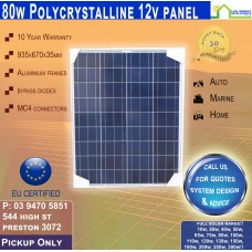 80 Watt 12v Solar Panel Poly - Pickup