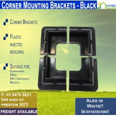 Black Corner Mounts - 180mm