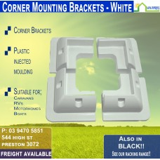 White Corner Mounts - 180mm