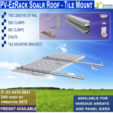 Tile Roof Racking for 1x 250w Panel