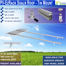 Tin Roof Racking for 1x 190w Panel