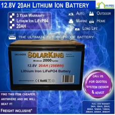 12V 20ah Lithium Ion LiFePo4 Deep Cycle Rechargeable Battery