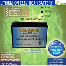 12V 100ah Lithium Ion LiFePo4 Deep Cycle Rechargeable Battery -V2-LARGE- FREE FREIGHT!!