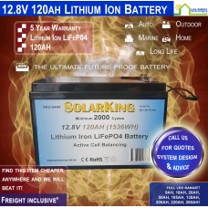 12V 120ah Lithium Iron LiFePo4 Deep Cycle Rechargeable Battery - FREE FREIGHT!!