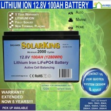 12V 100ah Lithium Battery - Active Cell Balancing -  PICK UP ONLY