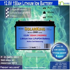 12v 150AH LITHIUM IRON 150ah 12.8v BATTERY (Smaller Size) - PICK UP ONLY