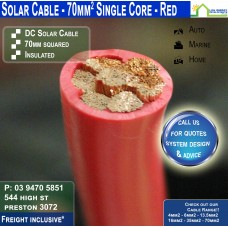70mm2 Red DC Solar Cable per metre