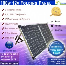 100w Folding Panel - Freight Inclusive