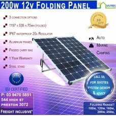 200w Folding Panel - Freight Inclusive