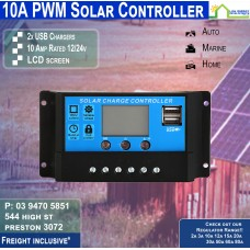 10a PWM Regulator with USB/LCD - Free Freight